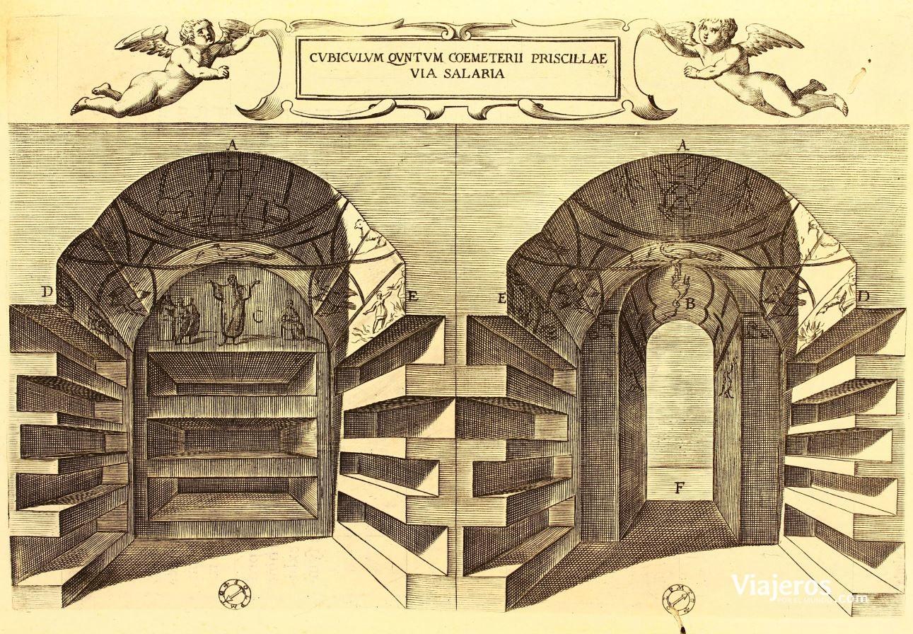 Grabado de las Catacumbas de Roma
