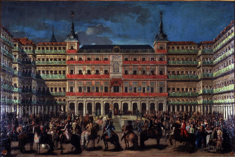 Lorenzo Quirós - Ornato de Plaza Mayor con motivo de la entrada de Carlos III en Madrid