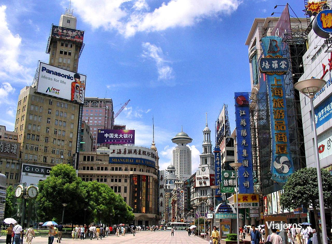 Calle en Shangai