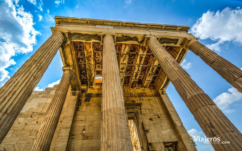 columnas templo atenas viajeros por el mundo