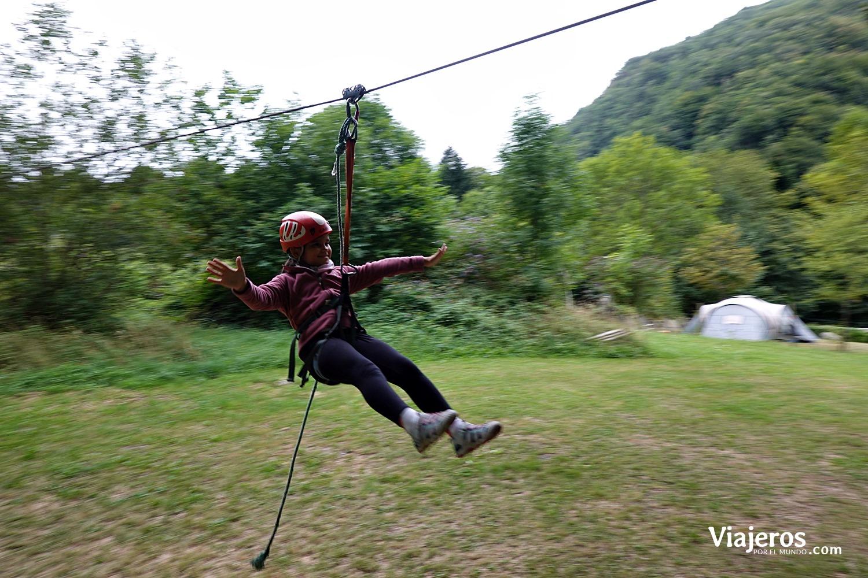 Parque de aventuras y tirolinas Acrokid Les Alias