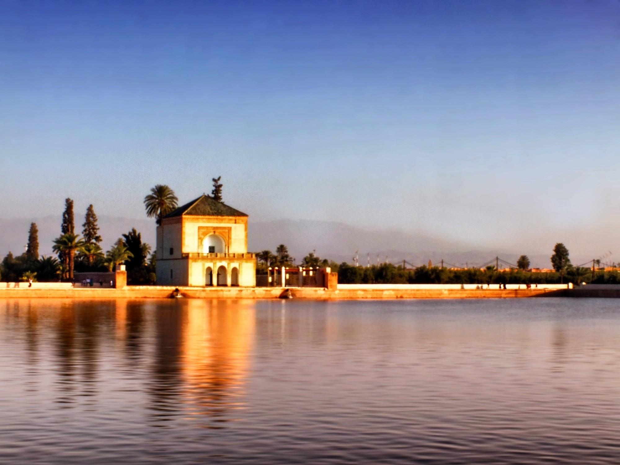 que ver en Marrakech Jardines de Menara
