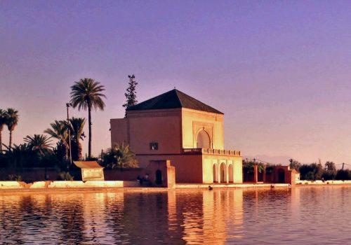 Los Jardines de Menara, la más hermosa puesta de sol