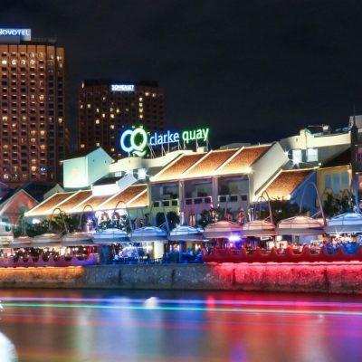Clarke Quay, noche en Singapur