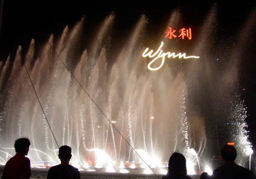 Espectáculo de fuentes en el Hotel Wynn