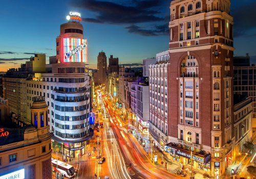 Gran Vía en Madrid