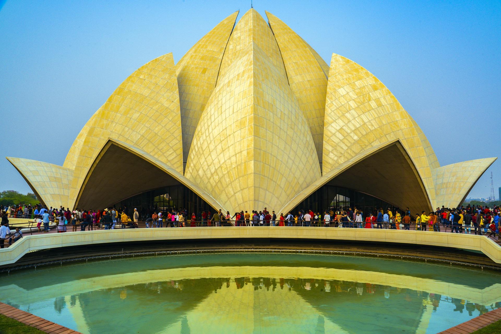 qué ver en Delhi Templo de Loto