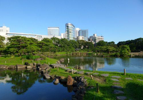 Jardines Hamarikyu, parque público en Tokio