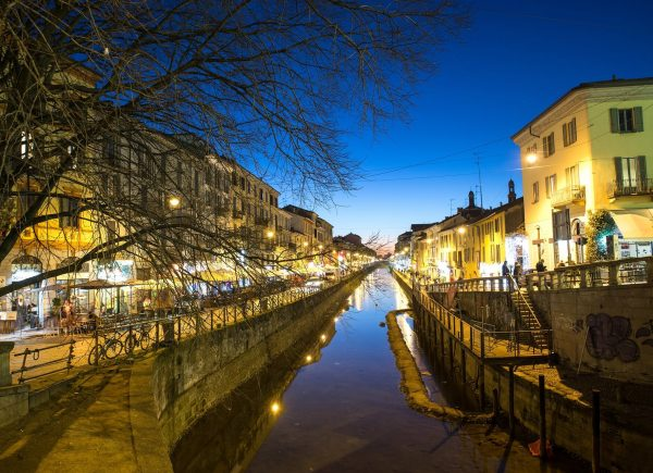 Navigli, barrio de canales en Milán