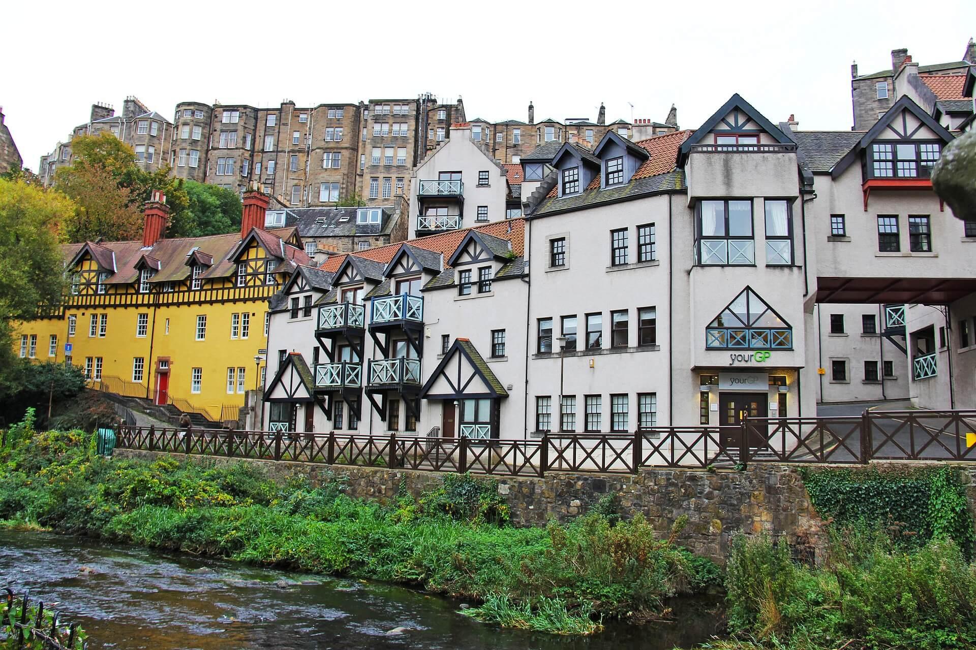 Dean Village lugares para ver en Edimburgo
