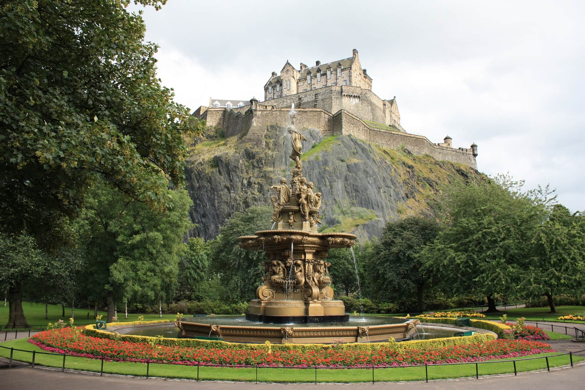 qué ver en Edimburgo Princes Street Gardens
